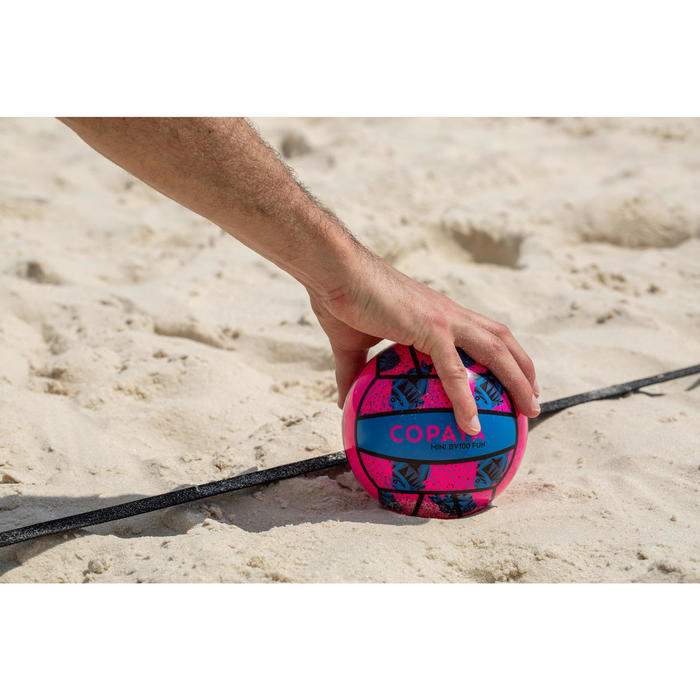 Minibal Beachvolley BV100 roze en blauw