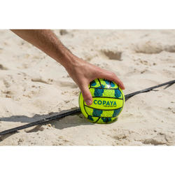 Mini ballon de beach-volley BV100 jaune et vert