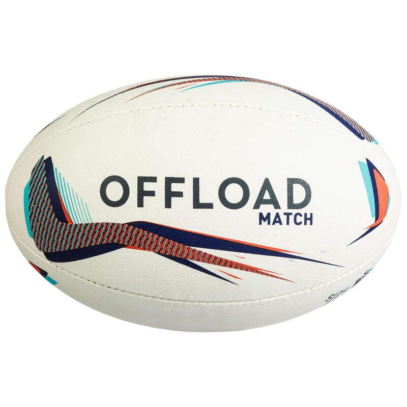 BOLLAR, TILLBEHÖR FÖR RUGBY Lagsport - Boll R500 T4 blå röd OFFLOAD - Rugby