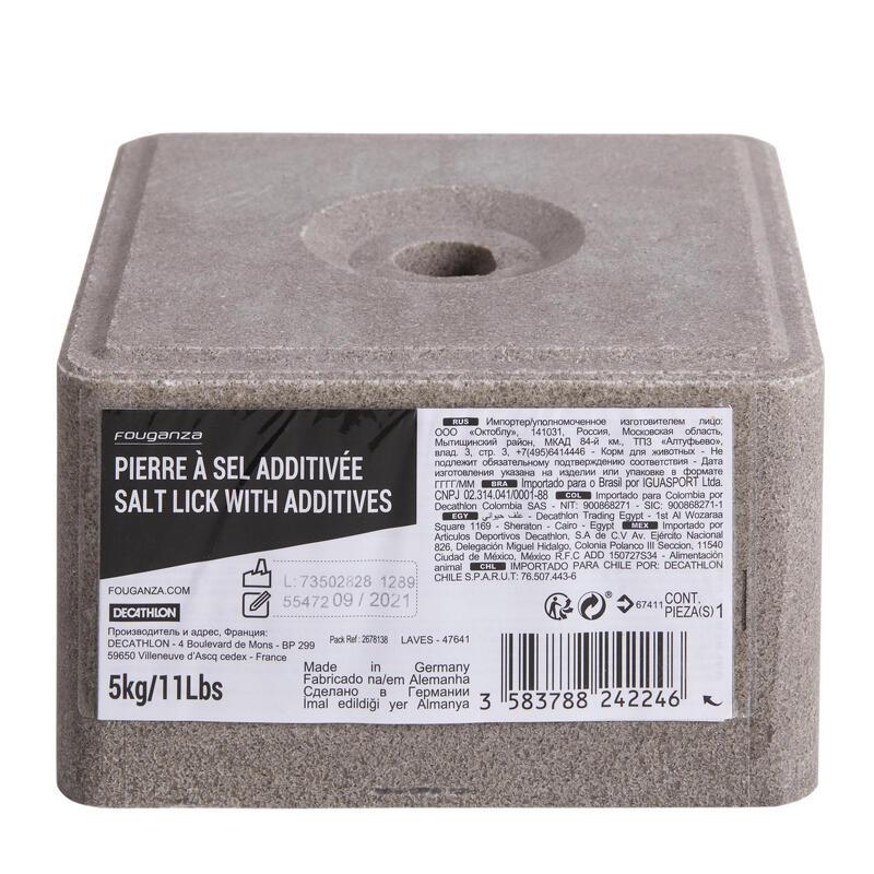 Piedra de sal equitación fouganza caballo y poni con aditivo 5 kg