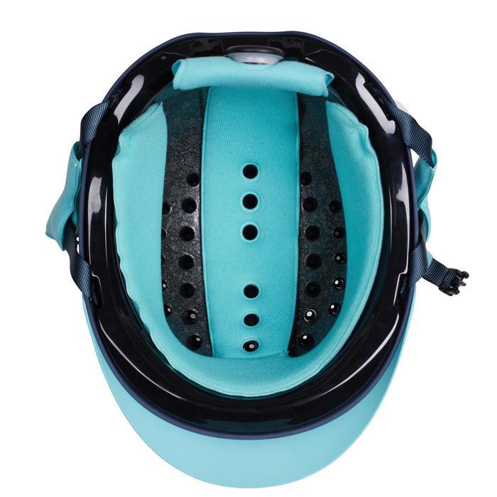 Rijhelm ruitersport 120 grijs/turquoise