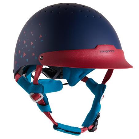 120 Riding Helmet - Navy/Pink