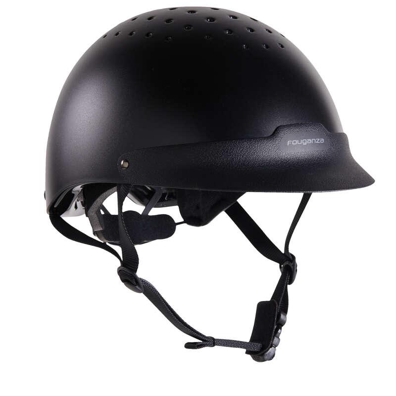 Protecţii călăreţ - Tocă 100 Negru  FOUGANZA