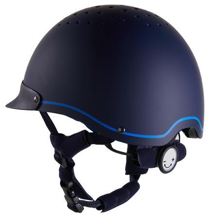 Casco Equitación Fouganza 120 Azul Mar/Azul Real