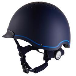 Rijhelm ruitersport 120 marineblauw/koningsblauw