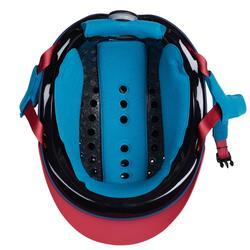 Reithelm 120 grössenverstellbar marineblau/rosa