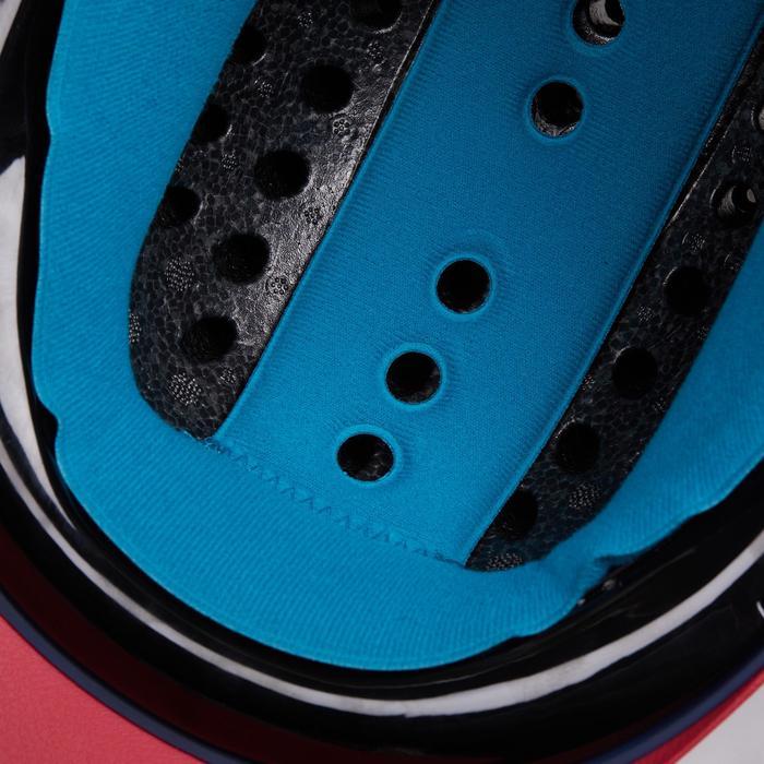 Rijhelm ruitersport 120 marineblauw/roze