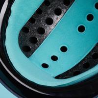 Casque équitation 120 gris/turquoise