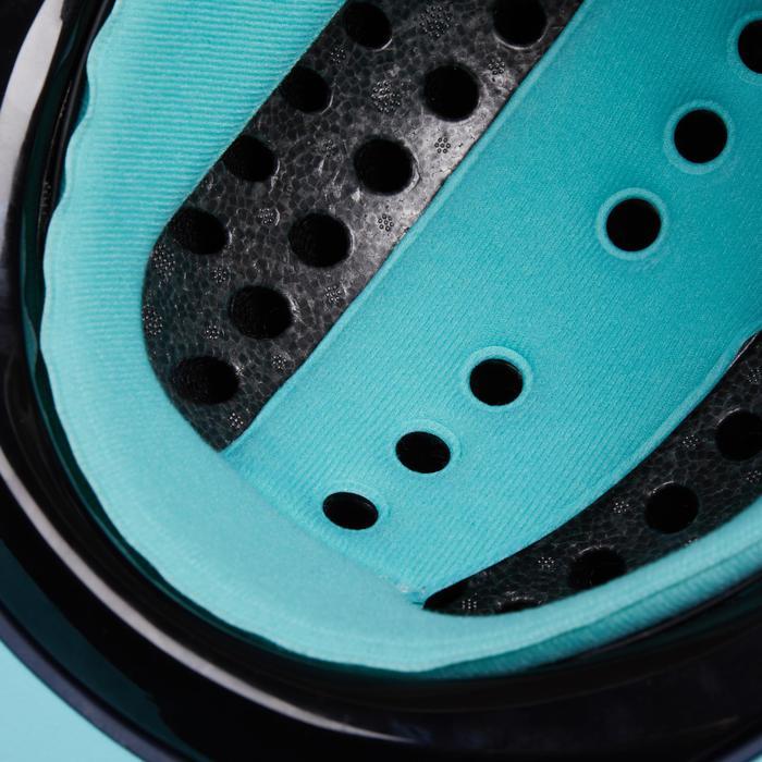 Paardrijcap 120 grijs/turquoise