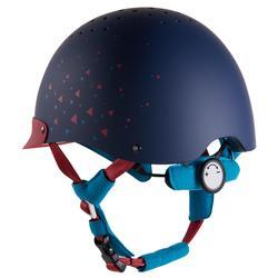 Paardrijcap 120 marineblauw/roze