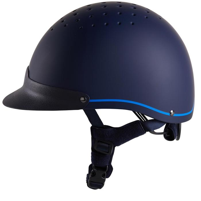 Casque équitation 120 marine/bleu roi