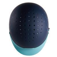 120 Riding Helmet - Grey/Turquoise