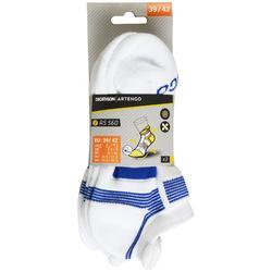 3雙入低筒運動襪RS 560-白色/藍色