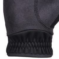 500 Children's Horse Riding Gloves - Black/Grey
