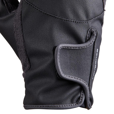 500 Children's Horse Riding Gloves - Black/Grey
