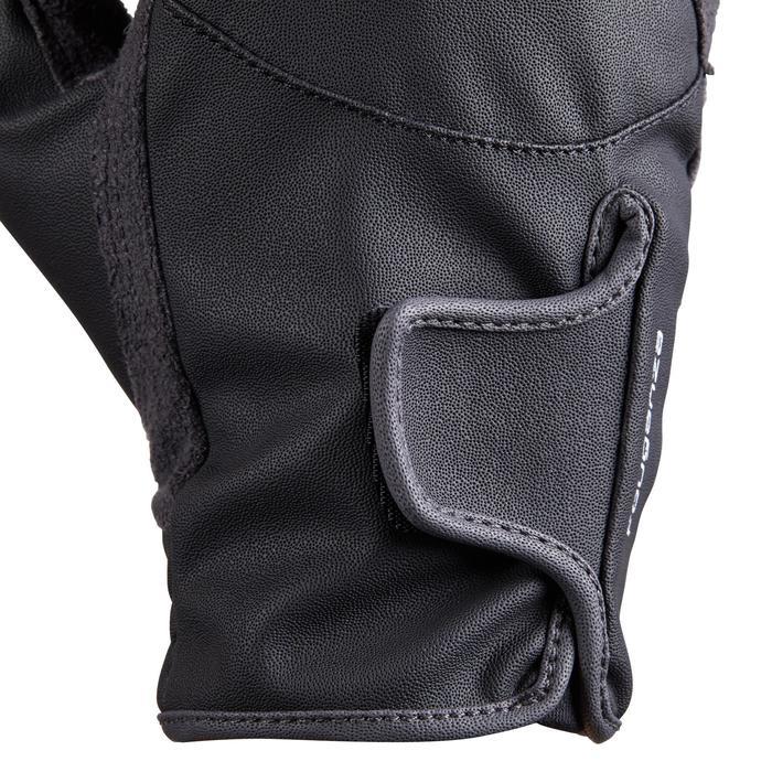 Gants équitation enfant 500 noir et gris