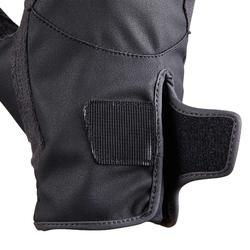 Handschoenen 500 voor kinderen ruitersport zwart en grijs
