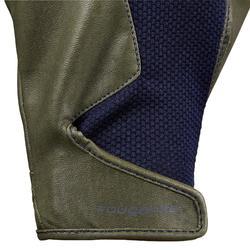 Reithandschuhe 560 Damen khaki/marineblau