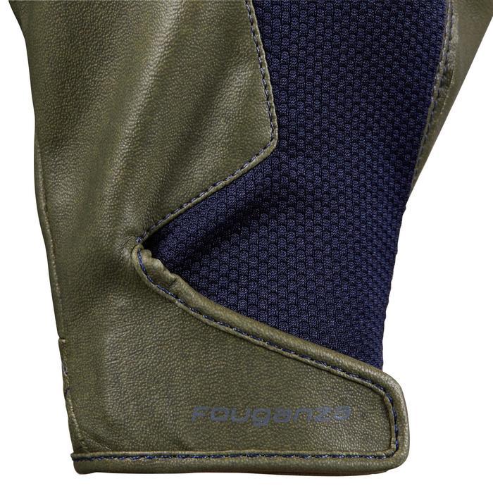 Rijhandschoenen voor dames 560 kaki/marineblauw