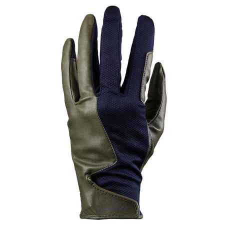 Sarung Tangan Berkuda Wanita 560 - Khaki/Navy