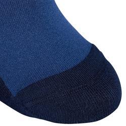 Kousen 100 voor meisjes ruitersport grijsblauw/rode strepen