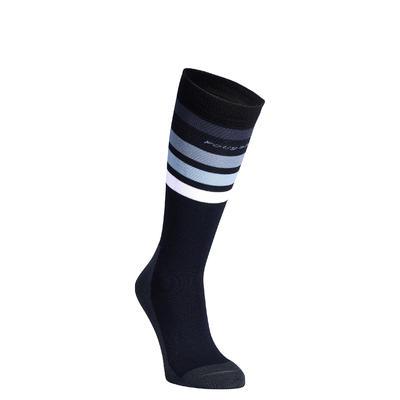 Шкарпетки 100 для кінного спорту - Чорні/Білі