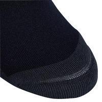 Calcetines equitación niña 100 negro/rayas blancas