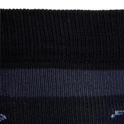 100 Girls' Horse Riding Socks - Black/White Stripes