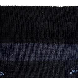 Paardrijsokken voor meisjes 100 zwart/witte strepen