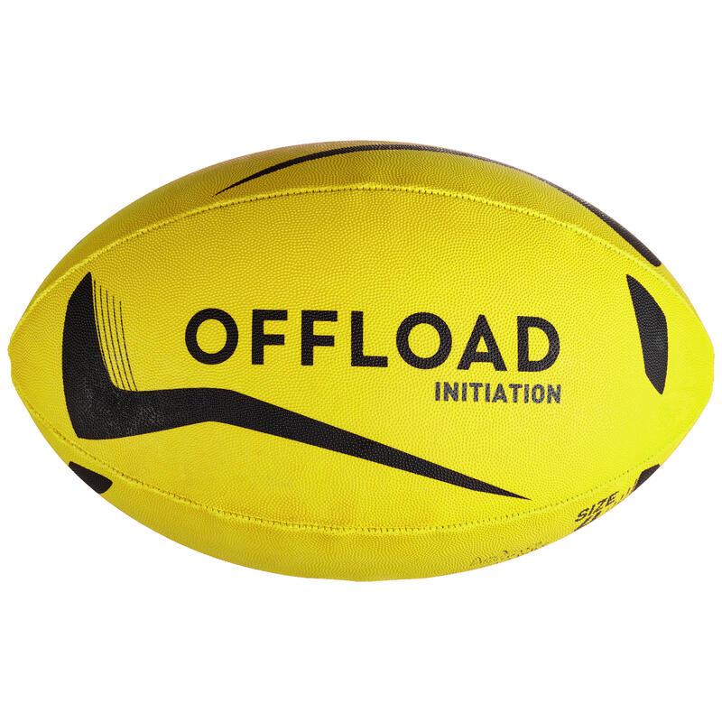 Balón de Rugby Offload Iniciación Talla 3 Amarillo