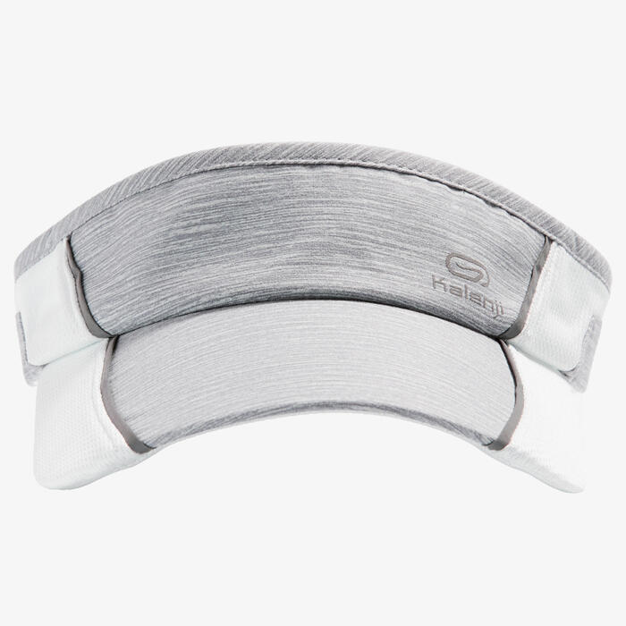 RUNNING VISOR ADJUSTABLE GREY HEAD SIZE 50 TO 62CM MEN WOMEN