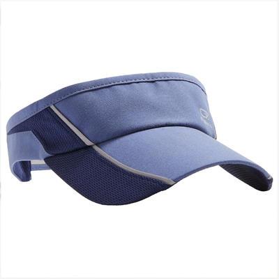 RUNNING VISOR ADJUSTABLE BLUE HEAD SIZE 50 TO 62 CM MEN WOMEN
