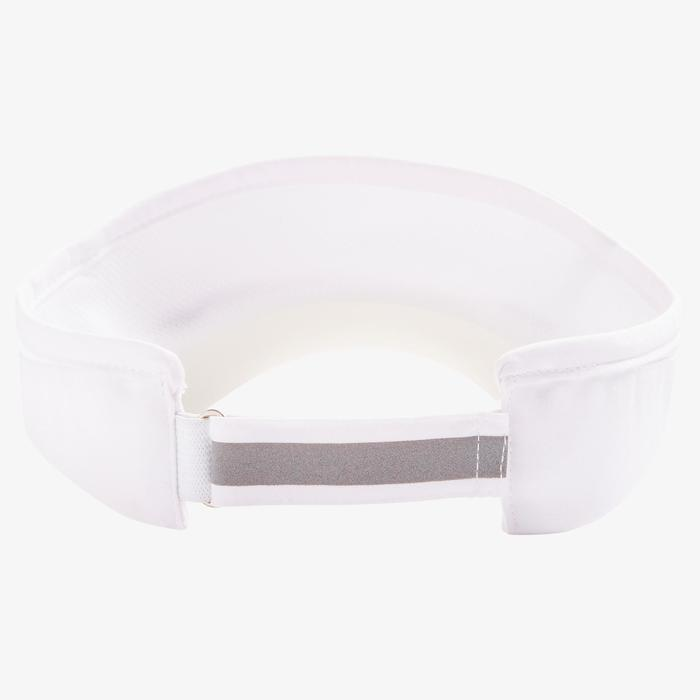 RUNNING VISOR ADJUSTABLE WHITE HEAD SIZE 50 TO 62CM MEN WOMEN