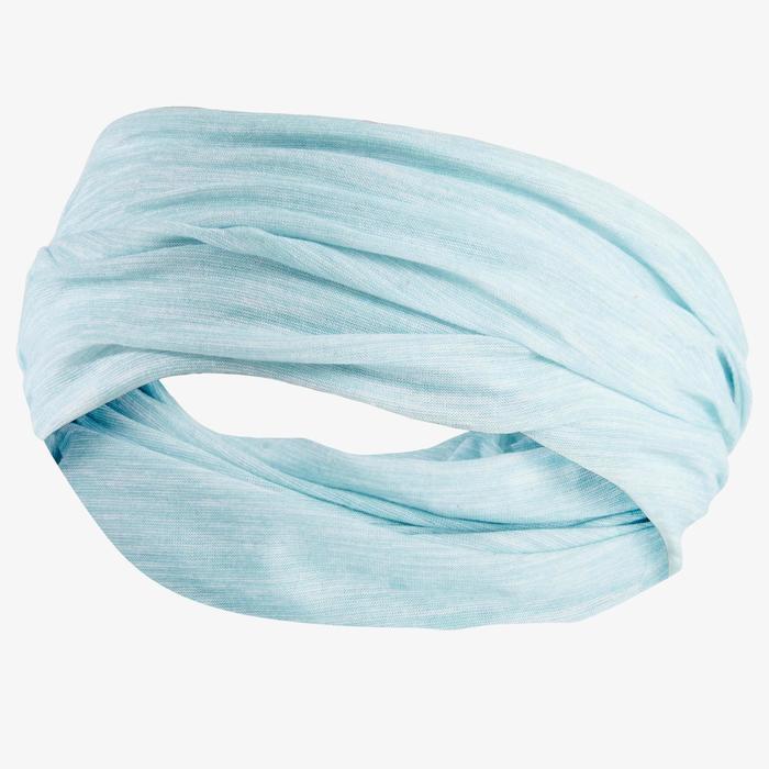 Multifunctionele hoofdband voor hardlopen wit groen Kalenji
