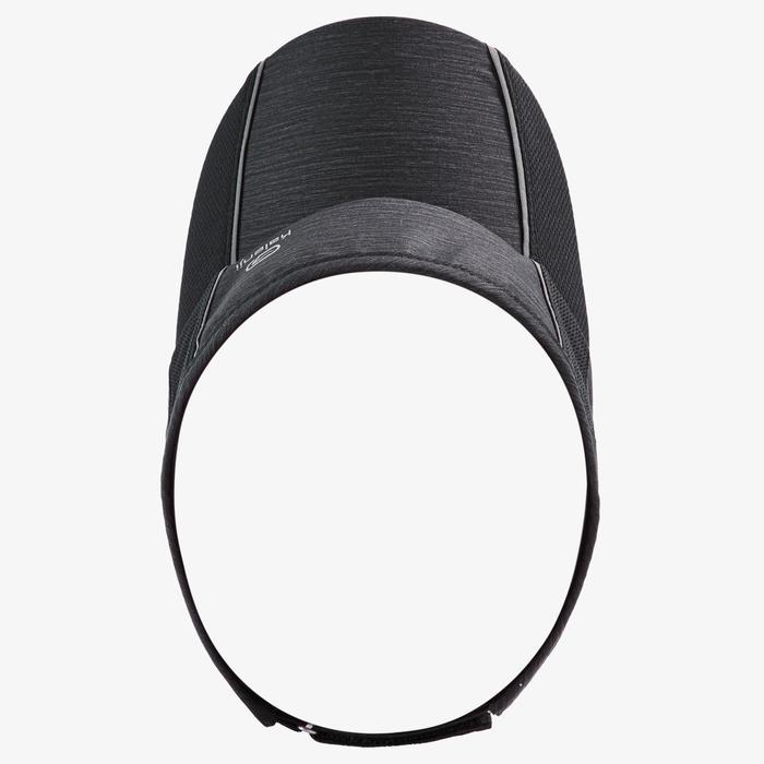 Verstelbare hardloopzonneklep Zwart Hoofdomtrek 50 tot 62 cm heren dames