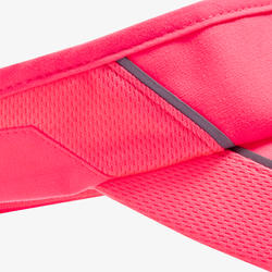 RUNNING VISOR ADJUSTABLE PINK CORAL HEAD SIZE 50 TO 62 CM MEN WOMEN