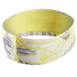 Hardloophoofdband geel camouflage Kalenji
