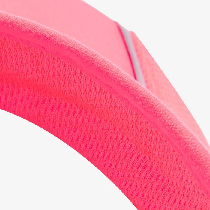 VISIERE DE RUNNING AJUSTABLE ROSE CORAIL TOUR DE TETE 50 à 62 CM HOMME FEMME