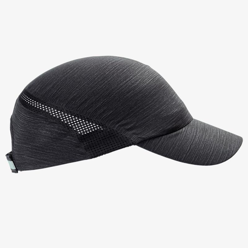 RUNNING CAP MOTTLED BLACK ADJUSTABLE: HEAD SIZE 51 A 63 CM Men Women
