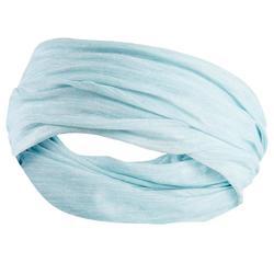 Multifunctionele hoofdband voor hardlopen wit groen