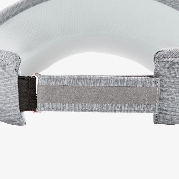 Lauf-Cap Visor verstellbar Erwachsene grau
