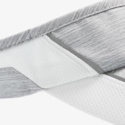 Verstelbare hardloopzonneklep Grijs Hoofdomtrek 50 tot 62 cm heren dames