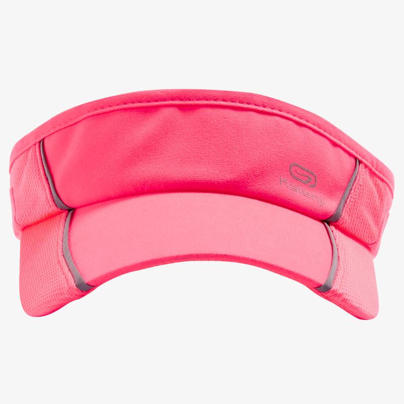 หมวกเปิดศีรษะใส่วิ่งปรับขนาดได้ สำหรับชาย/หญิงขนาดศีรษะ 50 ถึง 62 ซม. (สีชมพู Coral)