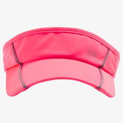 Lauf-Cap Visor Erwachsene verstellbar rosa/koralle