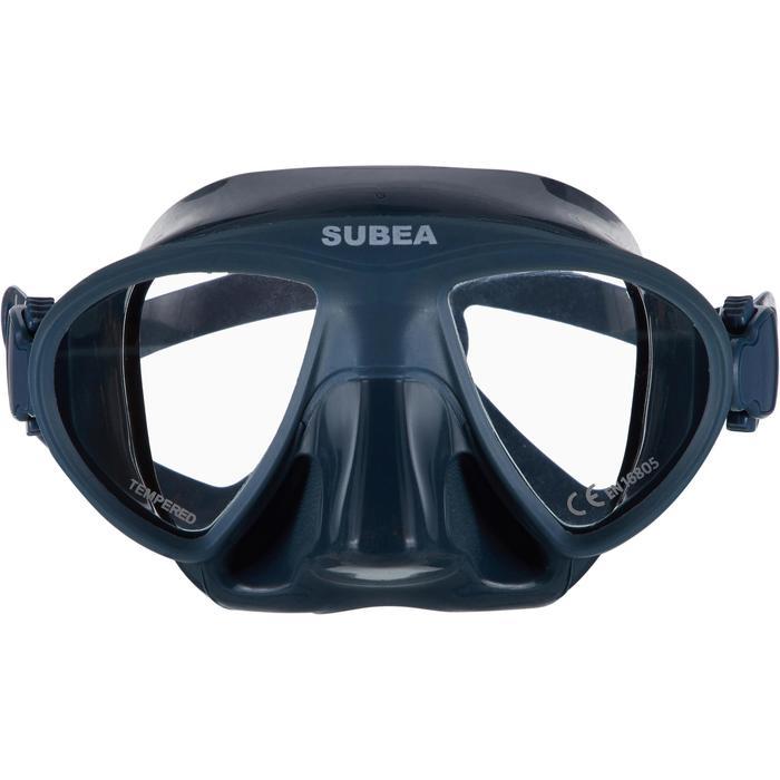 Compacte duikbril voor vrijduiken FRD 900 stormgrijs