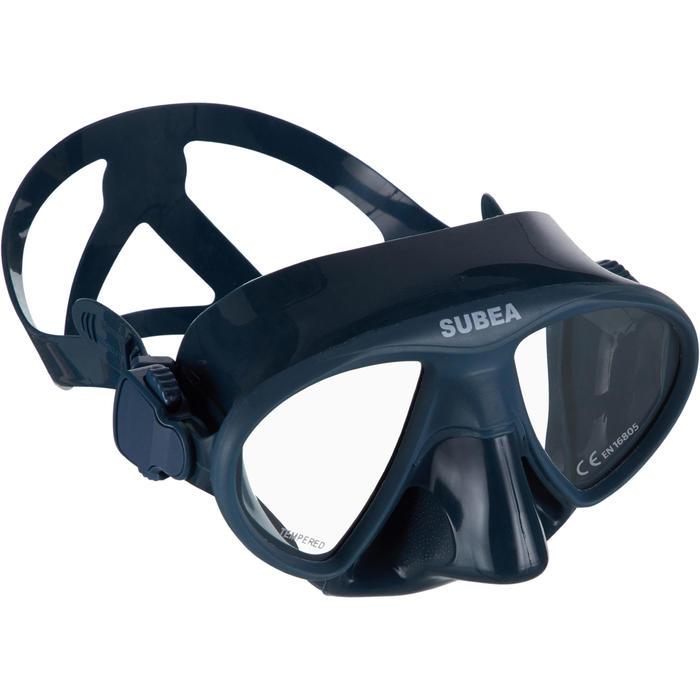 Compacte duikbril voor vrijduiken FRD 520 stormgrijs