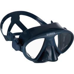 Tauchmaske Freediving FRD 520 kleines Volumen grau