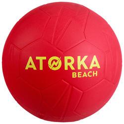 Balon de Balonmano Playa Atorka HB500 Talla 1 Rojo