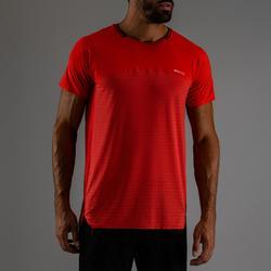 Camiseta Manga Corta Fitnes Cardio Domyos Hombre Rojo FTS 920