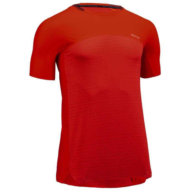 ABBIGLIAMENTO UOMO CARDIO FITNESS Fitness - T-shirt uomo cardio 920 rossa DOMYOS - Abbigliamento palestra